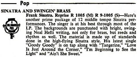 1962 - Sinatra and Swingin' Brass